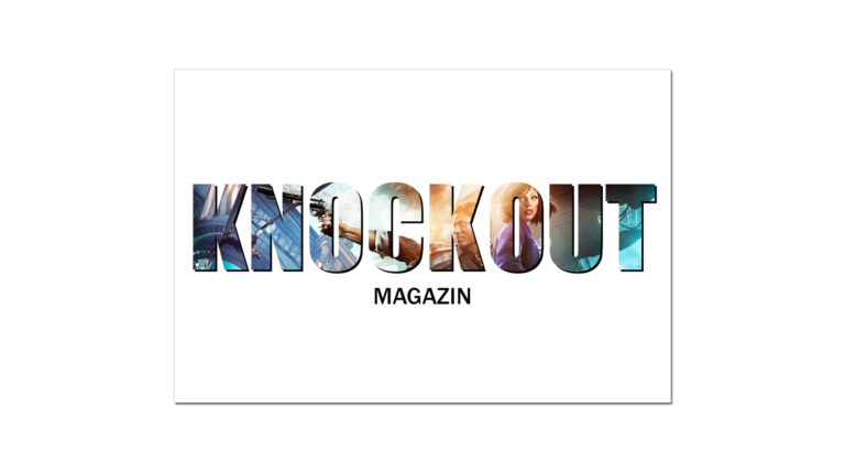 Visitenkarte mit dem Logo vom Knockout Magazin