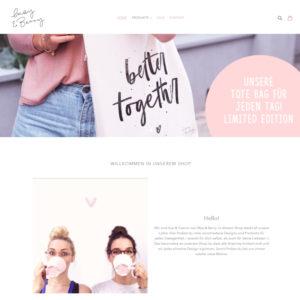 Vorschau der Startseite des May & Berry Online-Shops