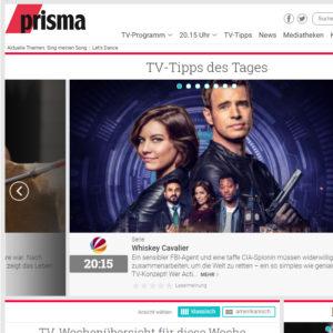 Ausschnitt der Startseite von prisma.de