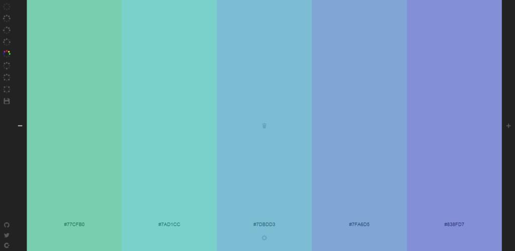 Screenshot von Colourcode (Farbwahl)