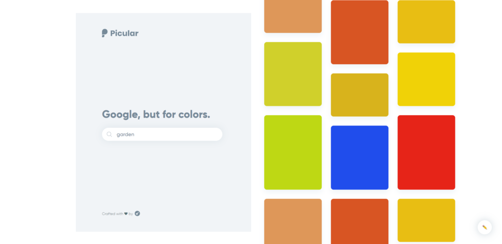 Screenshot von Picular (Farbwahl)